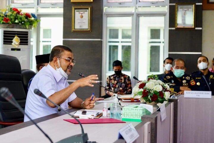 Bupati Karimun Pimpin Rapat Koordinasi Satgas Penanganan Covid-19, SamuderaKepri
