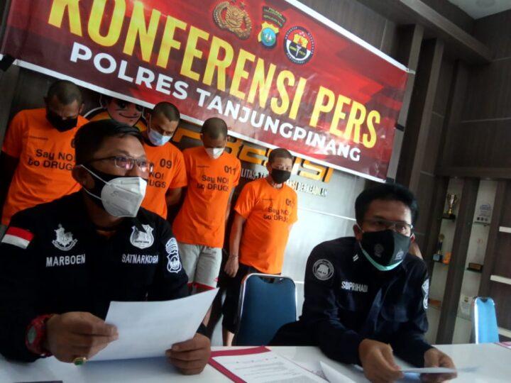 Residivis Narkoba Dibekuk Satnarkoba Polres Tanjungpinang, Barang Didapat Dari Warga Binaan, SamuderaKepri