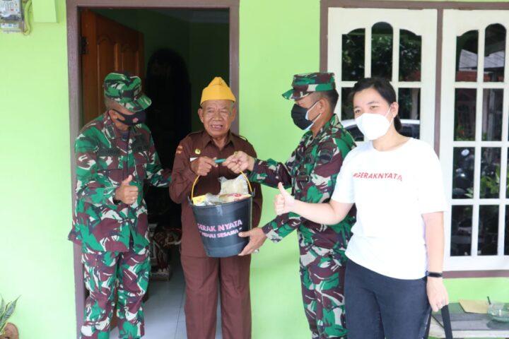 Menyambut HUT Veteran Jajaran Kodim 0315/Bintan dan Korem 033/WP Berbagi Kepada Veteran dan Warakawuri, SamuderaKepri